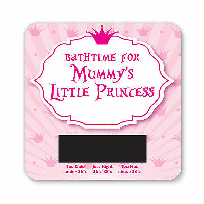 Baby Bath Thermometer - Mummys Little Princess  Design