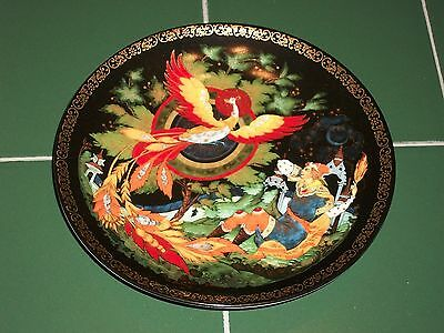 "Bradford Exchange Tianex Russian Legends Plate "" The Magnificent Firebird "" MIB"