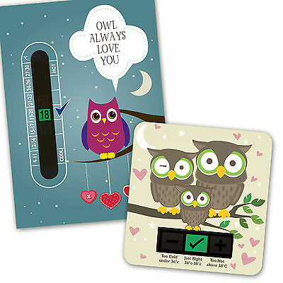 Baby Bath & Room Thermometer - Owl Always Love You Set