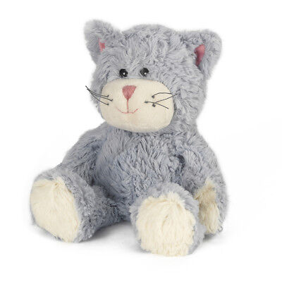 Warmies Cozy Plush Fully Microwavable BLUE CAT Lavender Scented Heatable Toy
