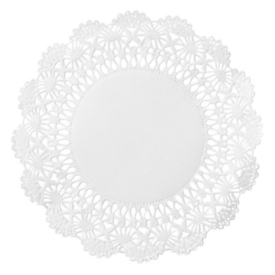 "Hoffmaster 500234 Cambridge Lace Doily, 5"" Diameter, White (Case of 1000)"