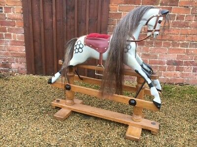 Extra Carved Lines Antique Rocking Horse Ideal Christmas Christening Gift