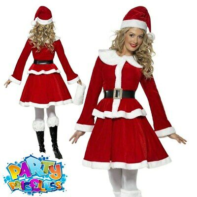 3428a9147 Miss Santa Claus Costume Ladies Womens Sexy Father Christmas Fancy Dress  Outfit Sc 1 St PicClick UK