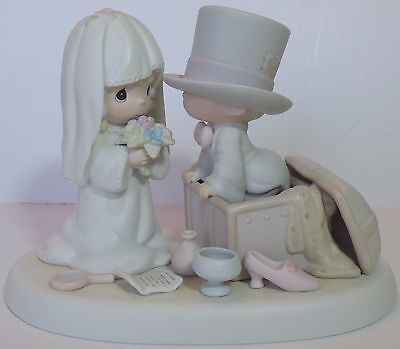 """Precious Moments 106755  """"Heaven Bless Your Togetherness"""" Wedding Flower Mark"""