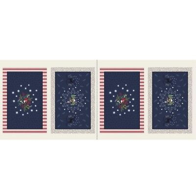 Lewis & Irene Countryside Christmas Place Mats - Midnight - Cotton Fabric Quilti