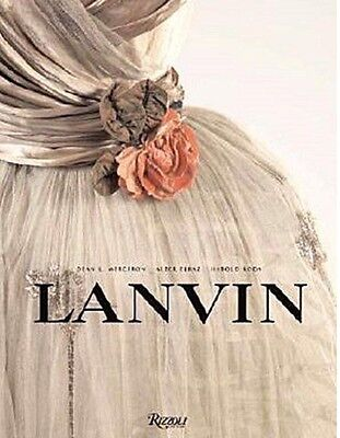 Lanvin Paris Coffee Table Book Fashion Mode Design Rizzoli Neu