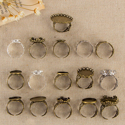Antique Cabochon Rings Setting Collection Base Trays Bezel