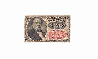 1874 FRACTIONAL CURRENCY 25 CENT WALKER NOTE SMALL PAPER MONEY Fr 1309 PM591