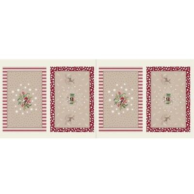 Lewis & Irene Countryside Christmas Place Mats - Linen - Cotton Fabric Quilting