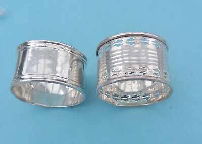 Two Antique/vintage Sterling Silver Napkin Rings 1912/35 Imperfect Scrap