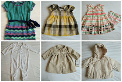 3-6 months girl dresses & coats - new with tags & like new
