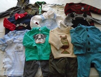 Used 20 Pc. Lot Of Baby Boy Clothes 3-6 Months Euc