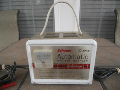 Vintage '70s Schauer 12-Volt 10-Amp Automatic Battery Charger, Working Since New