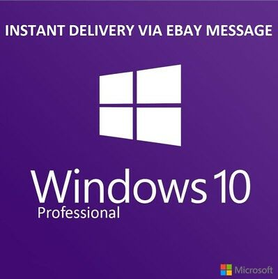Windows 10 Pro Professional 32 64bit OEM Key Original Code From Refurbished PC
