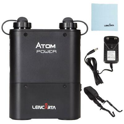 Lencarta Atom/Godox Witstro Power Pack | Inc. Charger, Battery and Strap