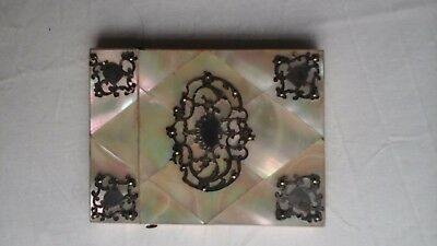 Mother of pearl vintage Victorian antique  card case