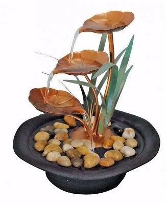 🎄 🌲🎅Christmas Gift Copper Leaflet Water Feature Small indoor tabletop Patio