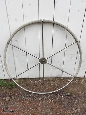 """Stainless Steel 36"""" Dia. Destroyer Wheel 1"""" Bore - Used for sailboat Yacht"""