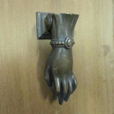 Genuine 1930s Art Deco Era Solid Bronze Door Knocker & Strike Plate