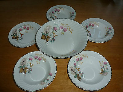 Royal Wessex White Ironstone set of 6 bowls by Swinnertones - good condition xx