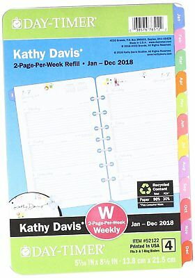 Day-Timer Two Page Per Week Planner Refill, Jan 2018 Dec 2018 (52122-1801)