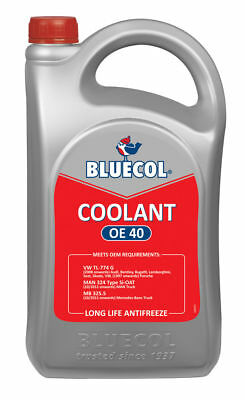 Bluecol Coolant Oe 40 Liquid Heavy Duty All Year Antifreeze Winter **FREE P&P)