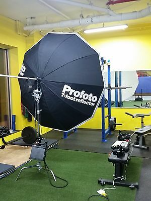 Profoto 7 foot reflector aka Giant Silver 210 reflector WITH DIFFUSION