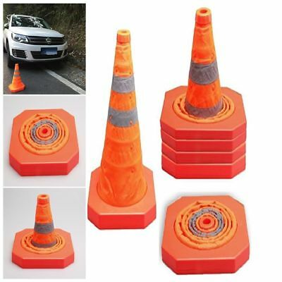 """4PK Cartman Collapsible Traffic Cone 15.5"""" Reflective Safety Pop Up Parking Lots"""