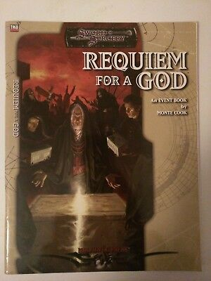 Requiem For A Gold Sword & Sorcery Event Book by Monte Cook d20 Malhavoc Press