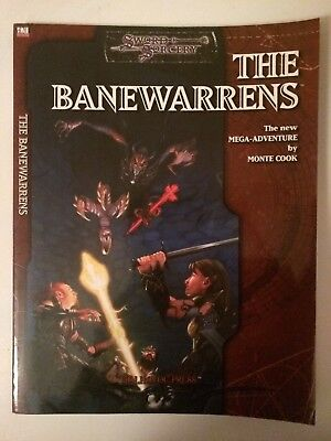 THE BANEWARRENS Sword & Sorcery Adventure by Monte Cook d20 Malhavoc Press