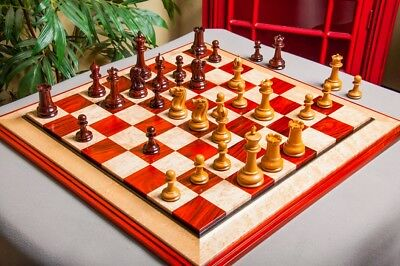 "The Original 1849 Staunton Series Luxury Chess Pieces - 4.4"" King - Cocobolo & A"