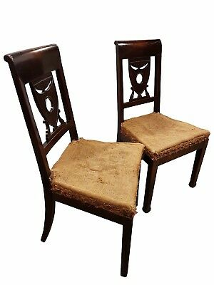 Superb pair of 18thC fruitwood chairs
