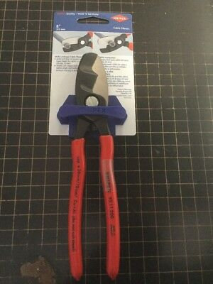 "Knipex Grip On 95 11 200 SBA 8"" Cable Shears Carded -84 Germany"