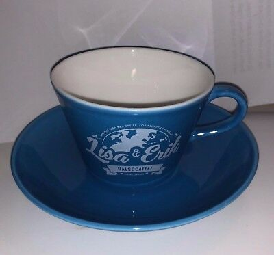 Gustavsberg Coffee Cup and Saucer Azurblue with logo