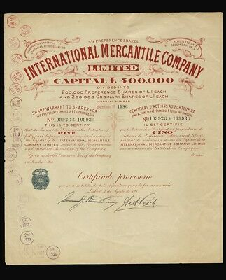 International Mercantile Company Limited, Portugal (1915)