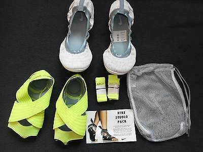 NEU Nike Studio Wrap Pack 3 grey-volt Gr. 38,5 US7,5 Tanzen Yoga Workout
