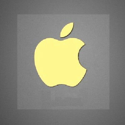 2 x Gold Apple Logo Decal for iPhone Metallic Stickers 7mm x 7mm