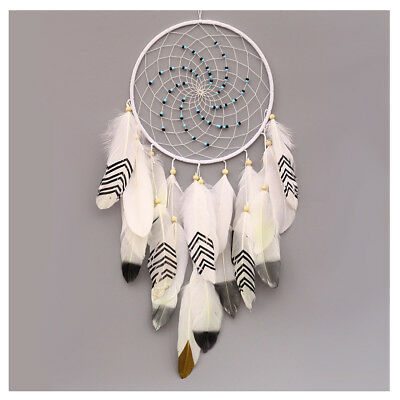 Handmade Dream Catcher with Feathers Wall Hanging Ornament Craft Gift K7Z6