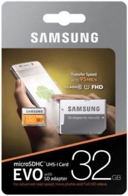 Samsung 32GB Ultra SDHC SD Card Class 10 UHS-I Memory Card 95MB/S For Camera HD