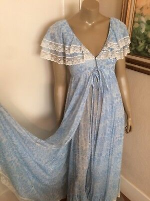 Claire by Lucie Ann Vintage Peignoir Nightgown Robe Set Glam Boho Lana Del Rey
