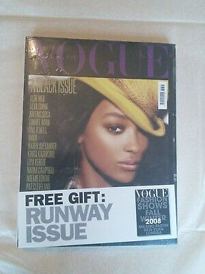 Vogue Magazine - Vogue Italia - A Black Issue - Rare Issue - Sealed