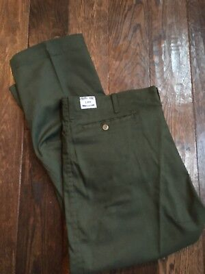 Vintage Men's 50s 60s Lee Frisko Jeens Work Pants Olive Green Twill USA 44x 28