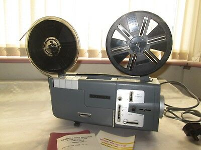 Vintage Chinon C-300 Cine Movie Film Projector With Lead Instructions & Reels