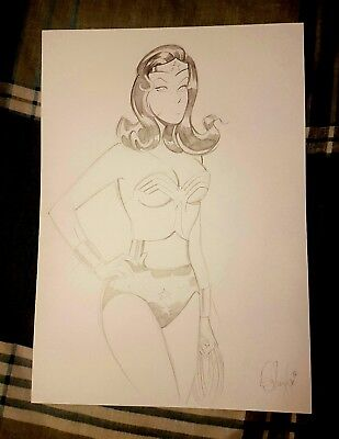 Des Taylor Wonder Woman Original Art DC Comics