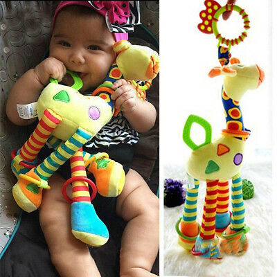 Kid Mobile Crib Ringing Bell Toy Baby Cot Pram Bed Hanging Giraffe Accessary