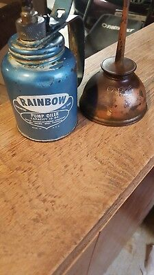 Vintage Rainbow and a Thumb Pump Eagle handy oil can