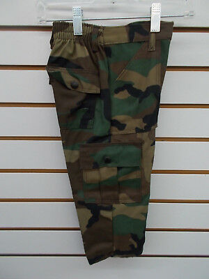Toddler & Boys Cargo Army Camo Pants Size 2T - 7
