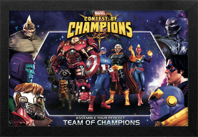 MARVEL CONTEST OF CHAMPIONS 13x19 FRAMED GELCOAT POSTER COMICS STAN LEE IRON MAN