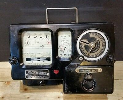 Vintage Bakelite Coin Operated Electricity Meter 1950s 1960s Smith Shilling kWh