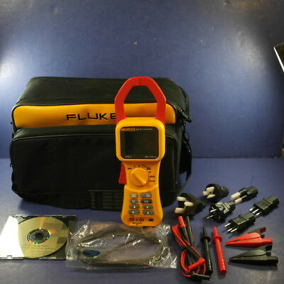 New Fluke 345 PQ Power Quality Clamp Meter, Soft Case, Accessories